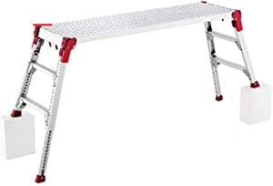 Step Ladders Household Folding Ladder Thick Portable Lifting Ladder Multi-Functional Platform Ladder 150kg Load-Bearing (Color : Silver, Size : 186-201x51-58x62-90cm)
