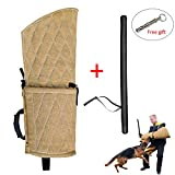 PET ARTIST Jute Dog Biting Training Sleeve Young Dogs Fits Both Left Right Hand Young Dogs PU Leather Whip Stick Set