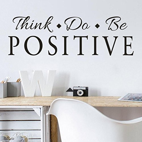 YJYDADA Wall Stickers,Think Positive Removable Art Vinyl Mural Home Room Decor Wall Stickers,60cm x20cm ()