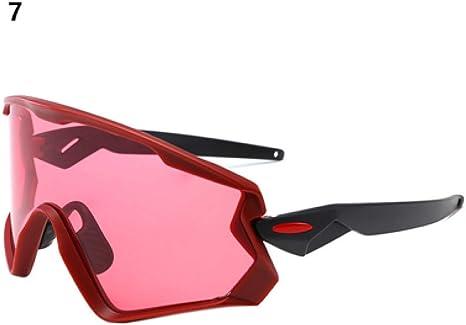 ZHENEN Gafas a Prueba Gafas de Sol de Ciclismo Gafas MTB Bicicleta Bicicleta Gafas a Prueba de Viento Gafas de Deporte al Aire Libre Marco Grande Gafas de Carreras para Hombres Mujeres,