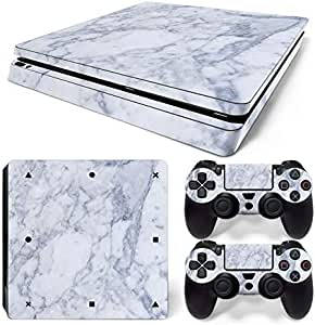Mcbazel Vinyl Decal Protective Skin Cover Sticker for PS4 Slim Console & Controller (NOT for PS4 or PS4 Pro) - Marble