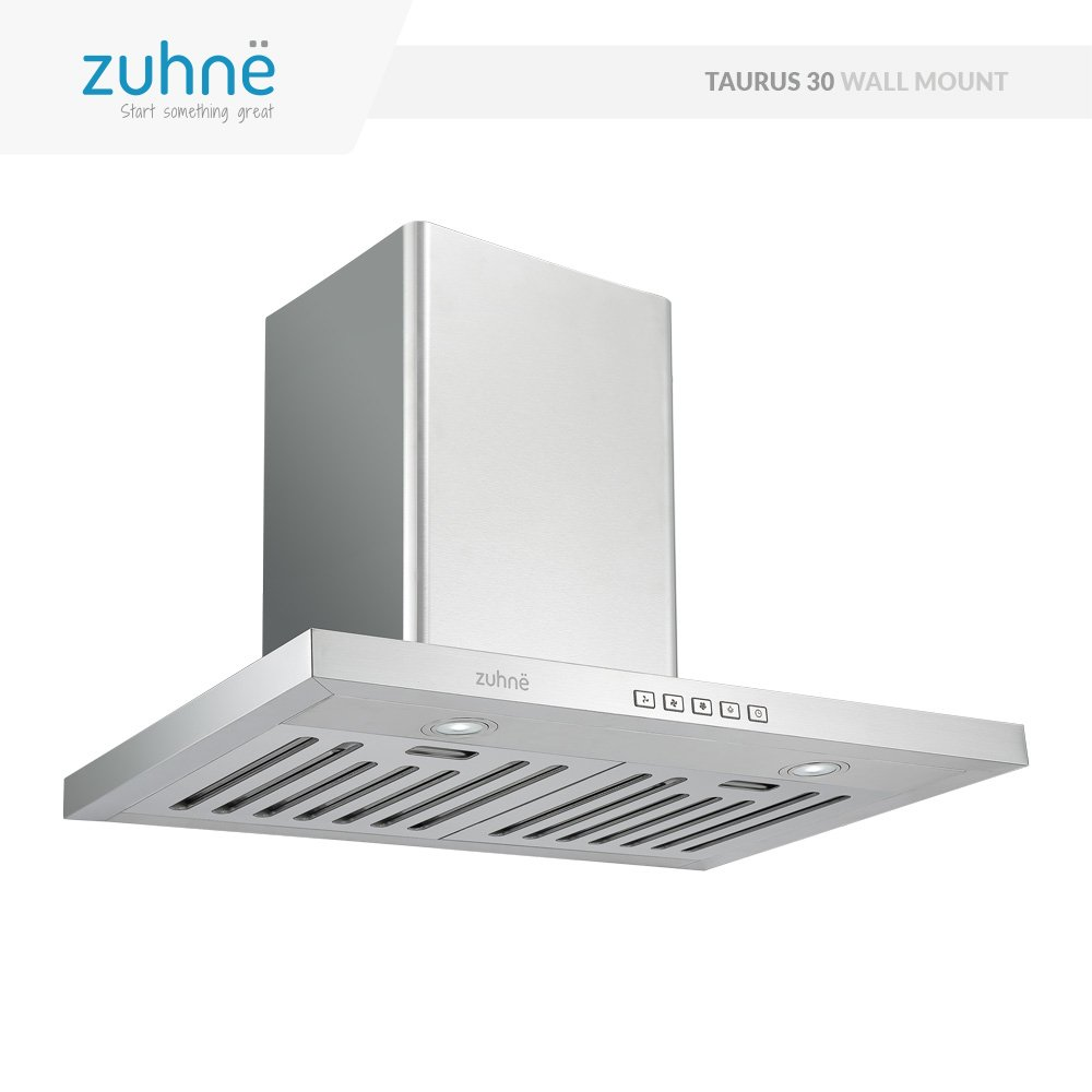 Zuhne Taurus 30 inch Kitchen Wall Mount Vented/ Ductless Stainless Steel Range Hood or Stove Vent with Energy Saving Touch Control & LED Lights by Zuhne (Image #2)
