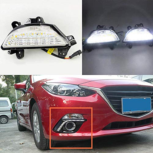 [해외]Auto-Tech 2pcs White+Yellow Car Daytime Running Light Turn Light for 2013-14 Mazda 3 Axela (White to yellow light) / Auto-Tech 2pcs White+Yellow Car Daytime Running Light Turn Light for 2013-14 Mazda 3 Axela (White to yellow light)