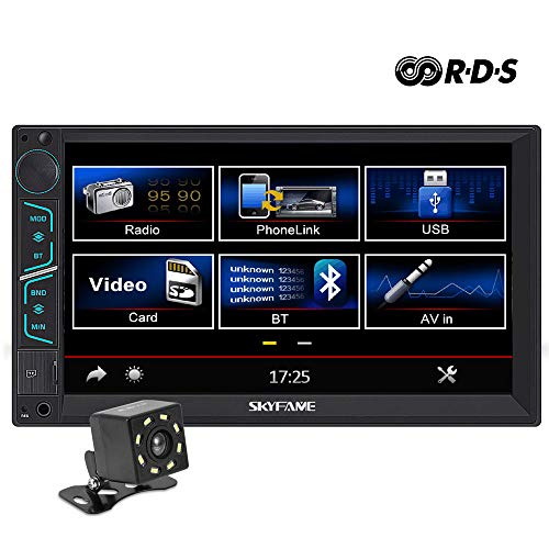 7 Inch Universal Double Din in Dash Car Stereo Car MP5 Player Bluetooth FM AM RDS Radio with Mirror Link and Reversing Image