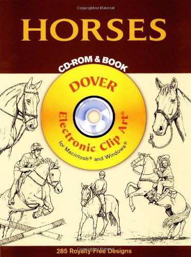- Horses CD-ROM and Book (Dover Electronic Clip Art)