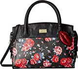 Luv Betsey Women's Mandi PVC Large Satchel Red Floral One Size