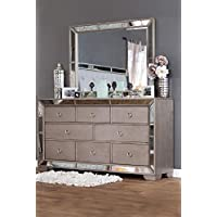 Winders Antique Mirrored 8 Drawer Dresser - Champagne
