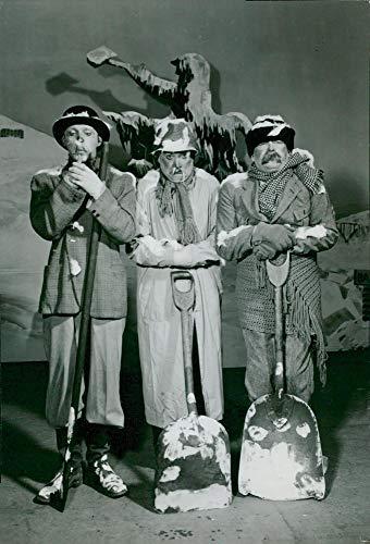 Vintage photo of Snowshoe trio in the revue