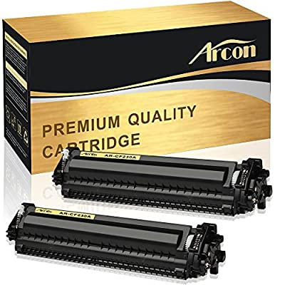 Arcon 2 Pack Compatible for HP 30A HP 30X CF230A M203dw M227fdw Toner Cartridge for HP LaserJet Pro MFP M203dw M227fdw M227fdn 203dw 27fdw 227fdn HP LaserJet Pro M203d M203dn M227sdn M227 M203 printer