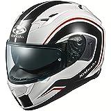 オージーケーカブト(OGK KABUTO)バイクヘルメット フルフェイス KAMUI3 NACK(ナック) ホワイトブラック (サイズ:XL) 584894