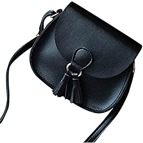 Women Handbags ,kaifongfu Tassel Leather Cross Body Shoulder Bags Girls Messenger Bag