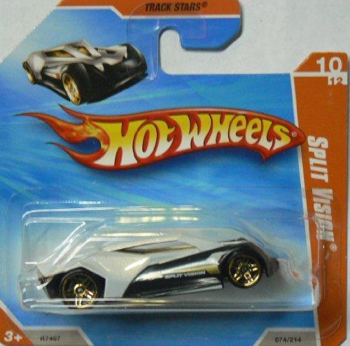 Hot Wheels 2010 Track Stars Split Vision #074 on Short - Card Stars Wheels Hot