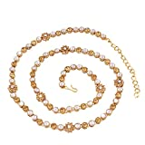 I Jewels Gold Plated Kundan & Stone Studded Kamarband/Belly Chain for Women B017