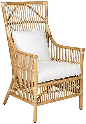 Merveilleux East At Main Tucker Brown Rattan Occasional Living Room Accent Chair,  (27x24x43)