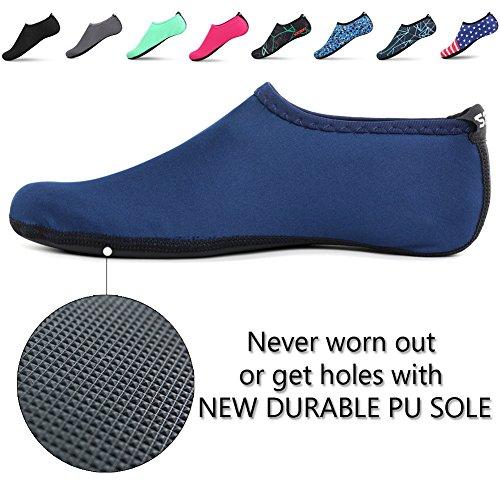 32a6a04b39b8e2 SENFI Unisex Wasser Haut Schuhe Barfuß Aqua Socken für  Pool-Wasser-Aerobic-Übung ...
