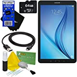Samsung Galaxy Tab E 9.6 16GB Wi-Fi Tablet (Black) SM-T560NZKUXAR + 64GB MicroSD High Capacity Memory Card + USB Cable + 5pc Deluxe Cleaning Kit + HeroFiber Ultra Gentle Cleaning Cloth