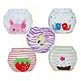Babyfriend Baby Girls' Washable 5 Pack Training Pants Kids Potty Cloth Diaper Nappy Underwear TP5-001: more info
