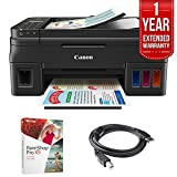 Canon PIXMA G4200 Wireless MegaTank All-In-One Inkjet Printer - Black (1515C002) + Corel Paint Shop Pro X9 Digital Download + High Speed 6ft USB Printer Cable + 1 Year Extended Warranty