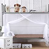 Bunk Bed Curtains GBSELL Encryption Nets 1.2 m Bed Student Dormitory Mosquito Nets Party Bed Rectangular Curtains Fly Screen Netting (White)