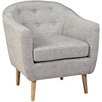 Denise Austin Home Chicago Black Linen Club Chair