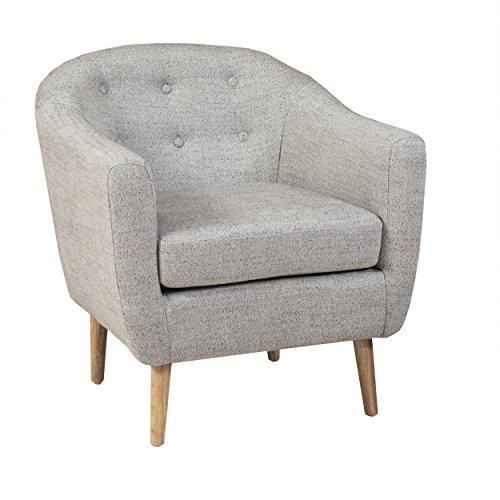 [Denise Austin Home Chicago Black Linen Club Chair] (Austin Modern Chair)