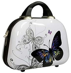 BEIBYE - Equipaje infantil  mariposa S(Beautycase)