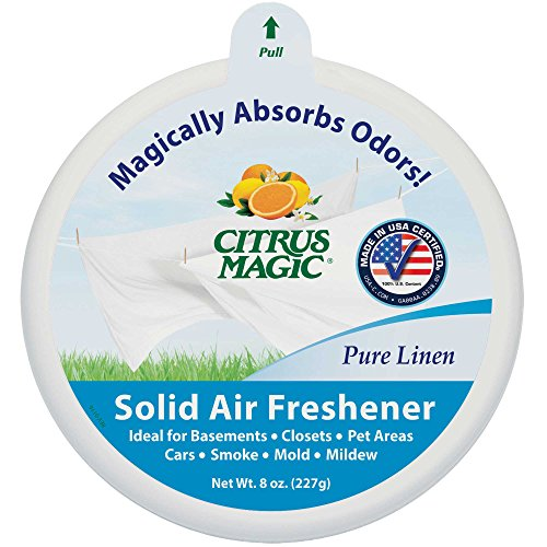 Citrus Magic Solid Air Freshener Pure Linen, Pack 6, 8-Ounces Each (Linen Pure)