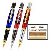 Legacy Woodturning, Viceroy Pen Kit Starter Pack with Bushings, Hurricane M42 Cobalt Drill Bit, Pen Kits, Wood Pen Blank Sampler Pack