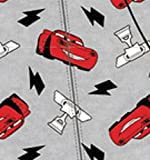 Disney Pixar Cars Lightning McQueen Gray Footie Toddler Boys Pajama