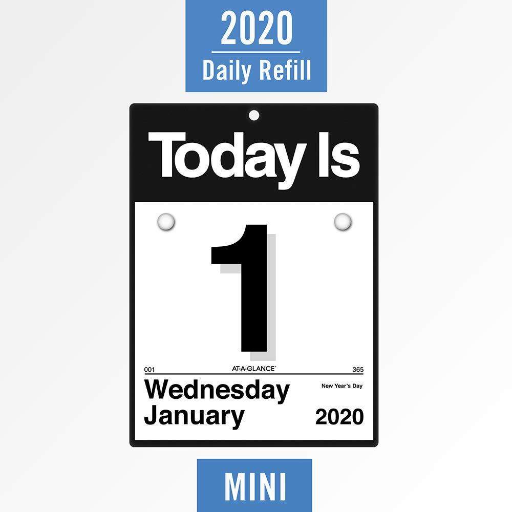 Amazon.com: AT-A-GLANCE 2020 - Recambio de calendario diario ...