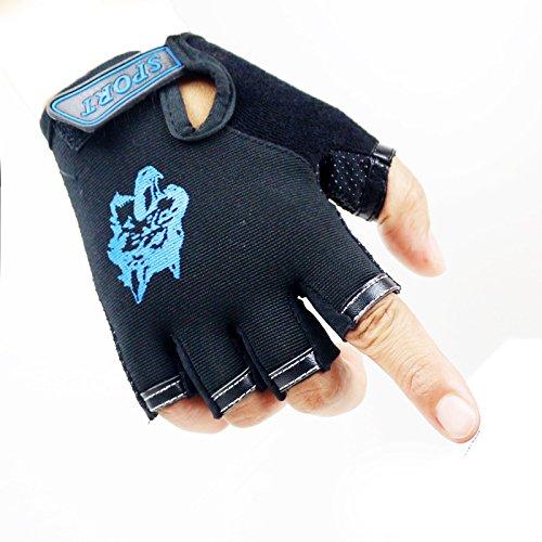 MARZE Bike Gloves for Children Half Finger Sport Gloves for Kids Boys Breathable Non-Slip Mittens