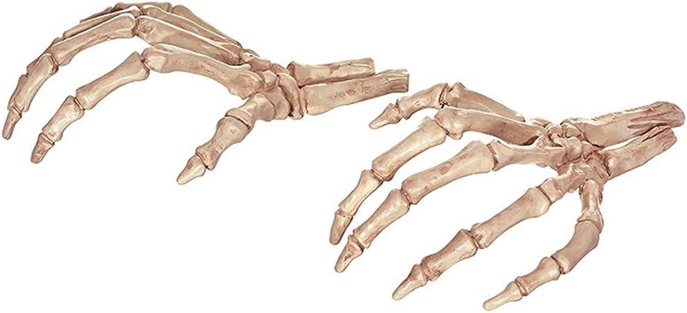 Queenbox Halloween Animal Esqueleto Hueso Cuerpo completo Cráneo humano posible para casas embrujadas Cementerio Escena del terror Festival Decoración espeluznante, Patrón 01: Amazon.es: Juguetes y juegos