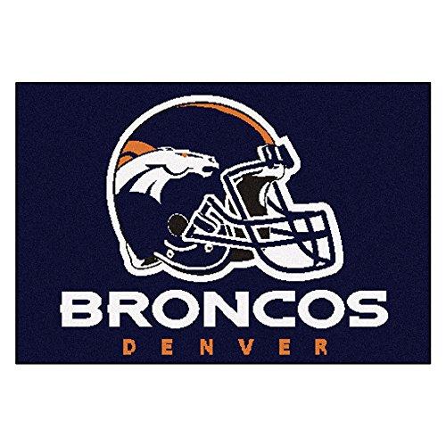FANMATS NFL Denver Broncos Nylon Face Starter Rug ()