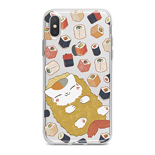 Lex Altern TPU iPhones Case X Xr 8 Plus 7 6s 6 SE 5s 5 Sushi Cute Apple Clear Phone Kawaii Cover Cat Silicone Food Print Protective Durable Max Xs -