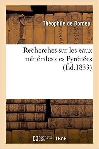 Téléchargement de livres audio du domaine public en mp3 Recherches sur les eaux minérales des Pyrénées iBook 2011284678
