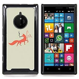 Eason Shop / Premium SLIM PC / Aliminium Casa Carcasa Funda Case Bandera Cover - Fox Foxy fumadores Arte Red Tail Bosque Animal - For Nokia Lumia 830