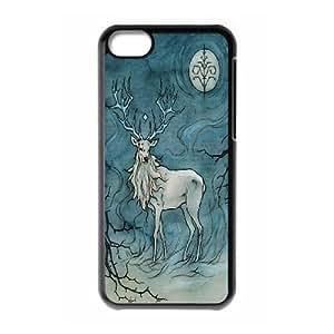 [QiongMai Phone Case] For Iphone 5c -Animal Deer-IKAI0447991