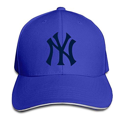 Nubia New York Yankee Sandwich Peak Sun Protection Cap Snapback Cap Royalblue