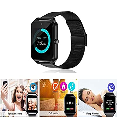 Smart Watch Upgrated Bluetooth Smartwatch with Camera Touchscreen, Sport Wrist Watches for iPhone/Android/iOS