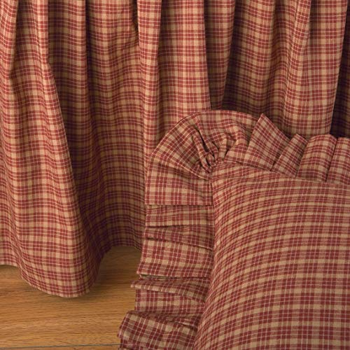 Donna Sharp Campfire Square Quilt,Shams,Bedskirts,Pillow & Valance (Brown, Euro Ruffled Sham 26W x26L)