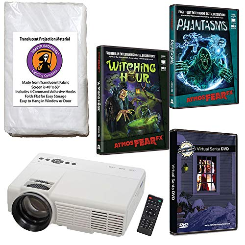 AtmosFearFX Phantasms & Witching Hour Virtual Reality Projector Value Kit for Halloween. Includes Free Virtual Santa DVD! -