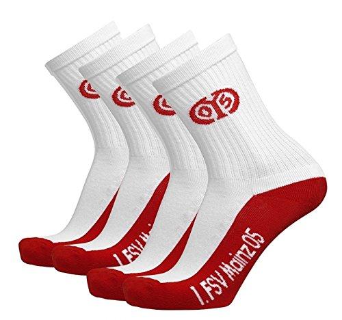 2er Set Sportsocken Gr. 31/34 1. FSV Mainz 05 calcetines / socks / chaussettes