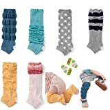 Lucky staryuan Black Friday 6Pairs Baby Girl Cotton Pedal Leg Warmer