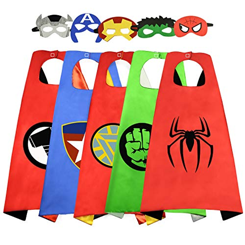 Roko 3-10 Year Old Boy Gifts, Superhero Costume for Boys Superhero Capes for Kids Boys Toys for 3-10 Year Old Boys Girls Cartoon Dress up Costumes RKUSSC06 -