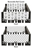 Sweet Jojo Designs 2-Piece Grey Side Crib Rail Guards Baby Teething Cover Protector Wrap for Woodland Arrow Collection by
