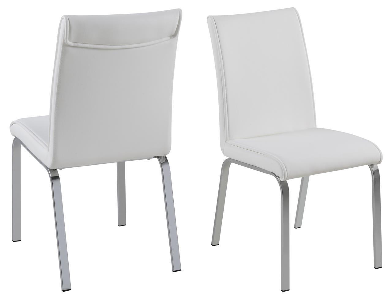 12 X Esszimmerstuhl Kunstleder Mit Chromgestell Moderner Stuhl