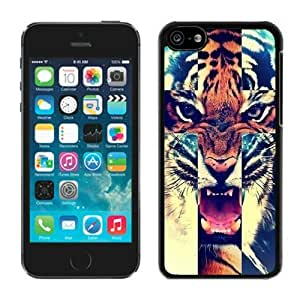 MMZ DIY PHONE CASETiger Roar Cross Hipster Quote Designer TPU Phone Cases for iphone 5c Soft Silicone Cell Phone Black Cover
