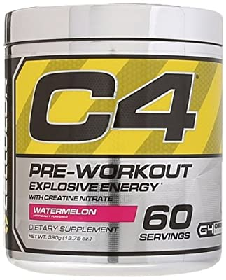 Cellucor - C4 Fitness Training Pre-Workout Supplement for Men and Women - Enhance Energy and Focus with Creatine Nitrate and Vitamin B12, Fruit Punch, 60 Servings
