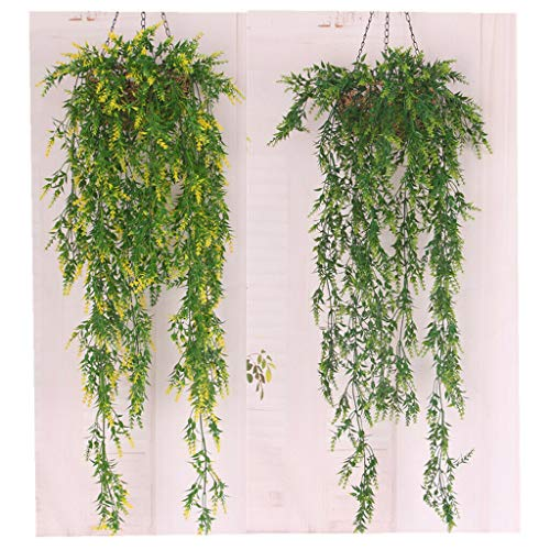 2pcs 100cm Artificial Ivy Vine Leaf Fake Foliage Flowers Home Wall Decor