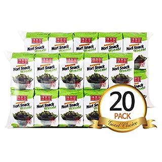 Daechun(Choi''s1) Wasabi Seaweed Snack, 20 Pack, Product of Korea